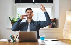 Successful entrepreneur looking happy Stock Images