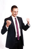 Successful excited business man happy smile Royalty Free Stock Image