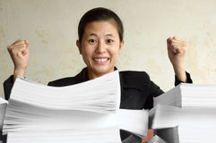 Successful excited businesswoman Stock Image