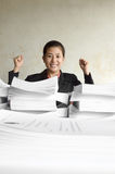 Successful excited businesswoman Royalty Free Stock Photos