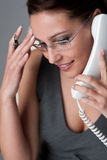 Successful executive businesswoman on the phone Royalty Free Stock Image