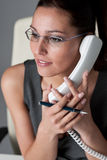 Successful executive businesswoman on the phone Stock Images