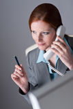 Successful executive businesswoman on the phone Stock Photos