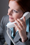 Successful executive businesswoman on the phone Stock Image
