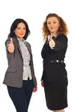 Successful executives women gives thumbs Stock Image