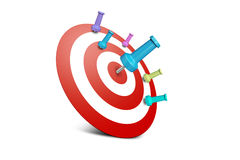 Successful and Failure Dart Shots Royalty Free Stock Photography