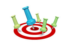 Successful and Failure Dart Shots Royalty Free Stock Photo
