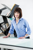 Successful Female Architect or Enginneer Royalty Free Stock Photos