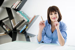 Successful Female Architect or Enginneer Stock Photo