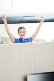 Successful Female Customer Service Representative Stock Images