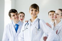 Successful female doctor Stock Images