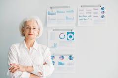Successful female leader woman head department stock photo