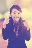 Successful female manager with blur background Stock Image
