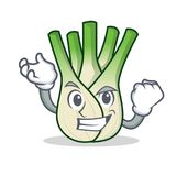 Successful fennel character cartoon style. Vector illustration Royalty Free Stock Photography