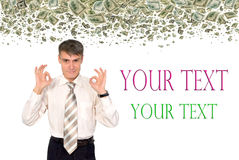 Successful financial management. Stock Image