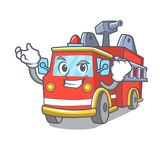 Successful fire truck character cartoon. Vector illustration Royalty Free Stock Image
