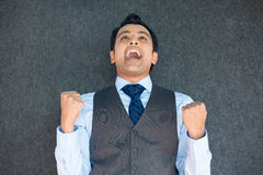 Successful with fists pumped Stock Images