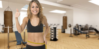 Successful fitness program Royalty Free Stock Photos