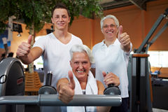 Successful fitness team Stock Photo