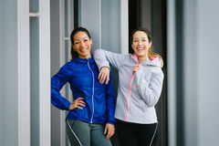 Successful fitness women Royalty Free Stock Photos