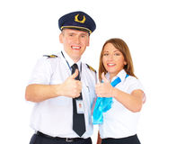 Successful flight crew Royalty Free Stock Image