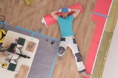 Successful Flooring Specialist stock image