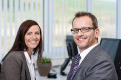 Successful friendly businessman Stock Image