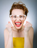 Expressive woman Royalty Free Stock Image