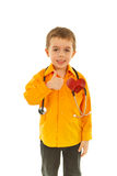 Successful future doctor boy Royalty Free Stock Photos