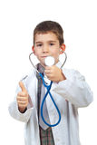 Successful future doctor give thumbs Royalty Free Stock Photos
