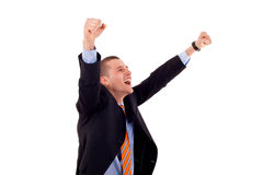 Successful gesturing business man Royalty Free Stock Photo