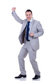 Successful gesturing businessman Royalty Free Stock Images