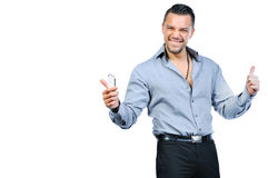 Successful gesturing man Royalty Free Stock Image