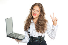Successful girl Stock Images