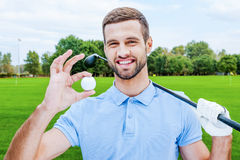 Successful golfer. Stock Images