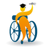 Successful graduate. Illustration of successful graduate design  on white background Stock Images