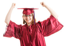 Successful Graduate Celebrates Stock Photography