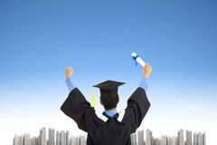 Successful graduating student Royalty Free Stock Photography