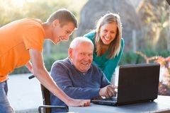 Successful grandfather Stock Photography