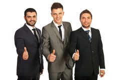 Successful group of business men Stock Photos