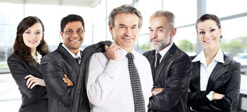 Successful group of business people in the office Stock Images