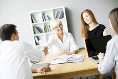 Successful group of business people Stock Photo