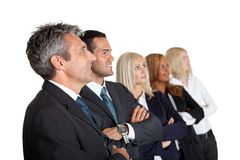 Successful group of businesspeople looking away Stock Photos
