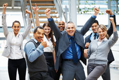 Successful group of executives Stock Image