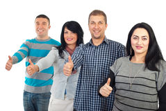 Successful group of people gives thumbs royalty free stock photos