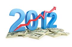 Successful growth business in 2012. The successful growth of profits in the business in 2012 stock illustration
