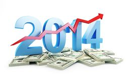 Successful growth of profits in the business. In 2014 Stock Image