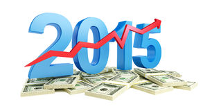 Successful growth of profits in the business in 2015 Stock Photos