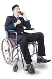 Successful handicapped man talking on the phone Royalty Free Stock Photo