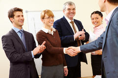 Successful handshake Stock Photos